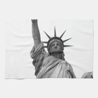 Black & White Statue of Liberty Kitchen Towel