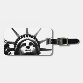 Black White Statue of Liberty Travel Bag Tags
