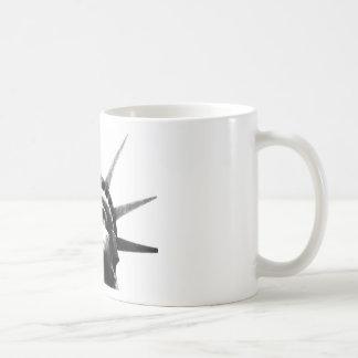 Black & White Statue of Liberty Classic White Coffee Mug