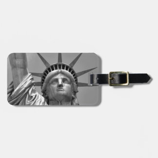 Black & White Statue of Liberty New York Bag Tag
