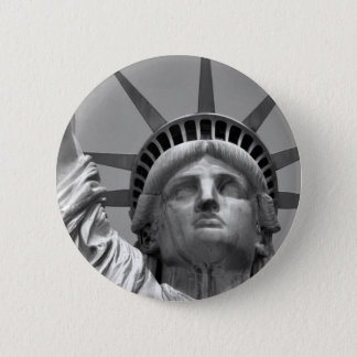 Black & White Statue of Liberty New York Button