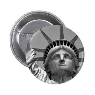 Black & White Statue of Liberty New York Button