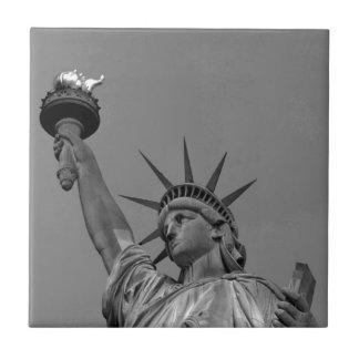 Black & White Statue of Liberty New York Ceramic Tile