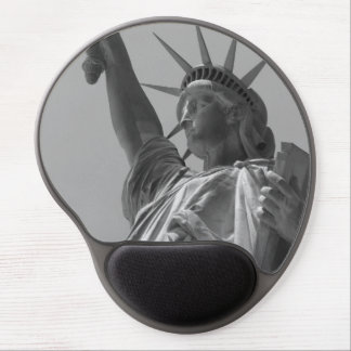 Black & White Statue of Liberty New York City Gel Mouse Pad