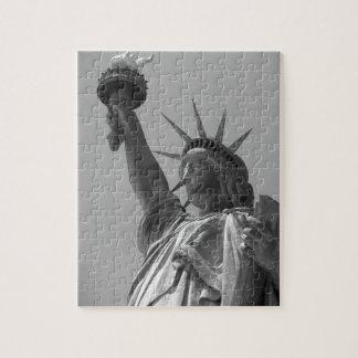 Black & White Statue of Liberty New York City Jigsaw Puzzle
