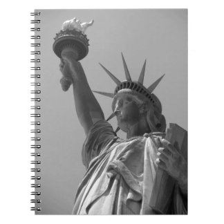 Black & White Statue of Liberty New York City Notebook