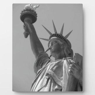 Black & White Statue of Liberty New York City Plaque