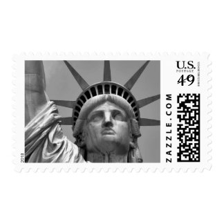 Black & White Statue of Liberty - New York City Postage