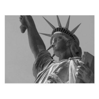 Black & White Statue of Liberty New York City Postcard