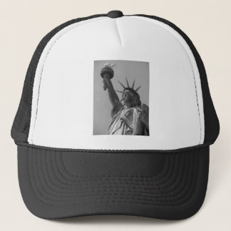 Black & White Statue of Liberty New York City Trucker Hat