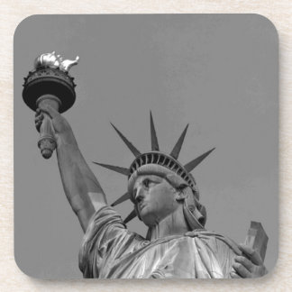 Black & White Statue of Liberty New York Coaster