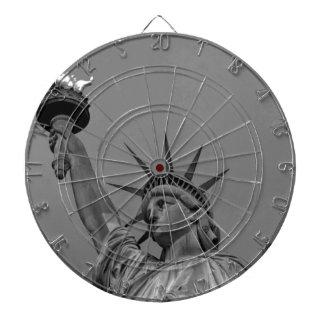 Black & White Statue of Liberty New York Dartboard