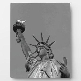 Black & White Statue of Liberty New York Plaque