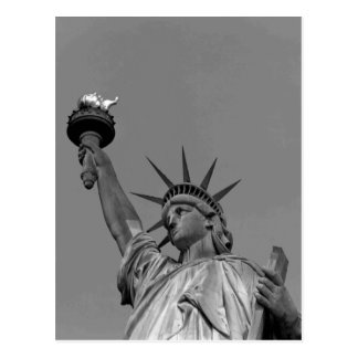 Black & White Statue of Liberty New York Postcard