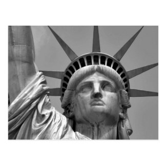 Black & White Statue of Liberty New York Postcard