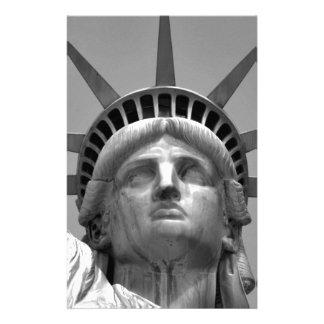 Black & White Statue of Liberty New York Stationery