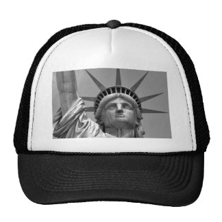 Black & White Statue of Liberty New York Trucker Hat