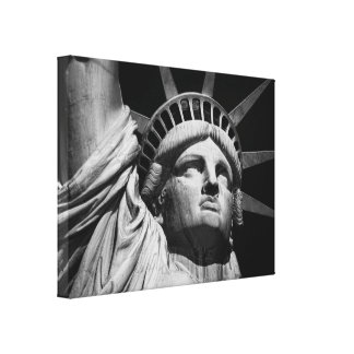 Black & White Statue of Liberty NYC Canvas Print