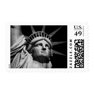 Black & White Statue of Liberty NYC Postage Stamp