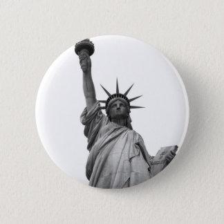 Black & White Statue of Liberty Pinback Button