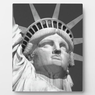 Black & White Statue of Liberty Plaque