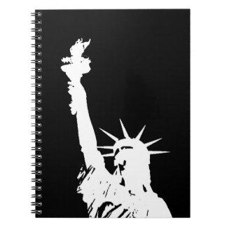 Black & White Statue of Liberty Pop Art Notebook