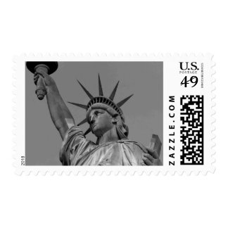 Black & White Statue of Liberty Postage