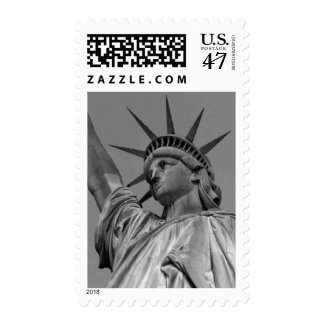Black & White Statue of Liberty Postage