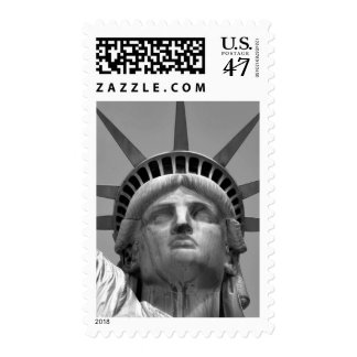 Black & White Statue of Liberty Postage Stamp