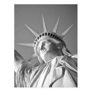 Black White Statue of Liberty Postcard