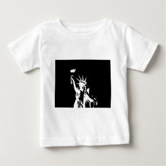 Black & White Statue of Liberty Silhouette Baby T-Shirt