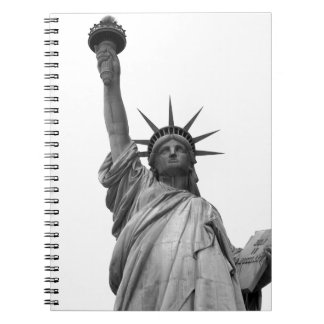 Black & White Statue of Liberty Spiral Notebook