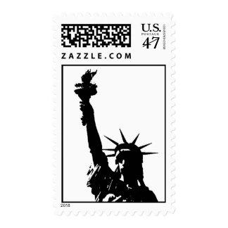 Black & White Statue of Liberty Stamp