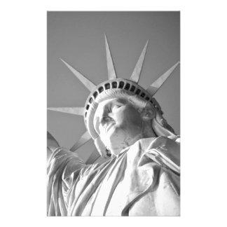 Black White Statue of Liberty Stationery