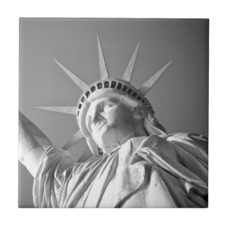 Black White Statue of Liberty Tile