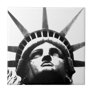 Black & White Statue of Liberty Tile