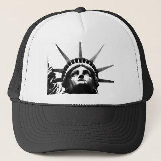 Black & White Statue of Liberty Trucker Hat
