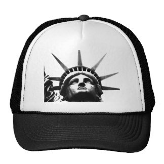 Black & White Statue of Liberty Trucker Hat