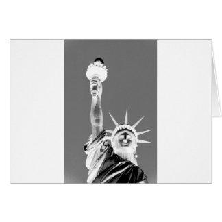 Black & White Statueof Liberty New York City Card