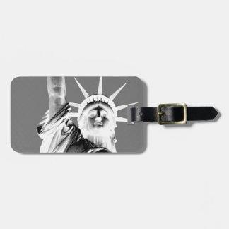 Black & White Statueof Liberty New York City Luggage Tag