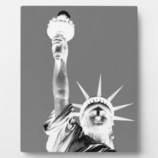 Black & White Statueof Liberty New York City Plaque