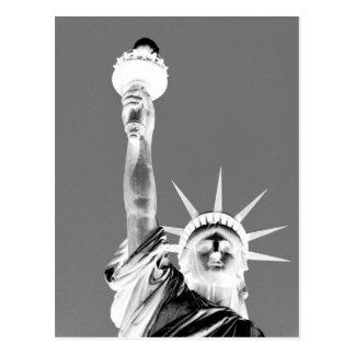 Black & White Statueof Liberty New York City Postcard