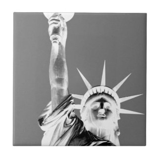 Black & White Statueof Liberty New York City Tile
