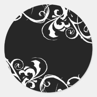 Black & White Sticker