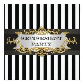 Black White Stripe, Black Ribbon Invitation Suite