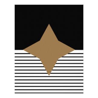 Black White Stripe & Brown Diamond Scrapbook Paper