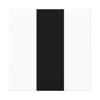 Black White Stripe Canvas Print