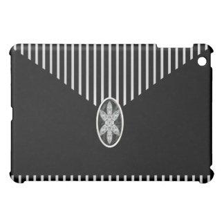 Black White Stripe Jewel iPad Mini Cases