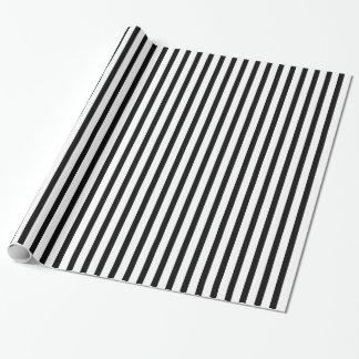 Black White Stripe Pattern wrapping paper