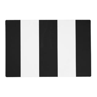 Black White Stripe Placemat at Zazzle